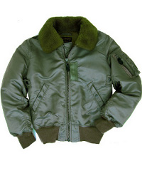 Blouson Bombers B-15 Flight Jacket Sage Green
