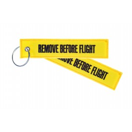 Porte-Clés Remove Before Flight (Yellow)