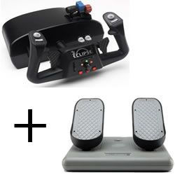 CH Products Yoke Eclipse + Pro Pedals