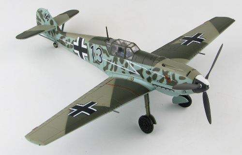 Hobby Master HA8713 Messerschmitt Bf109E-3, I./JG 77 Herz, Black 13, France, Summer 1940