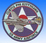 Patch Curtis P40 Kittyhawk USAAF