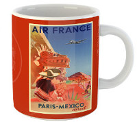Mug Air France Paris-Mexico
